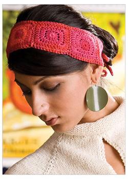 Granny Squares Four Corners Headband