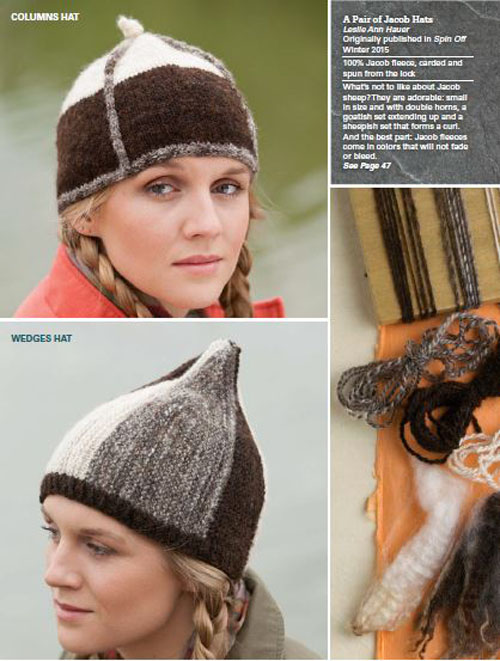 A Pair of Jacob Hats by Leslie Ann Hauer