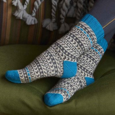 accented socks