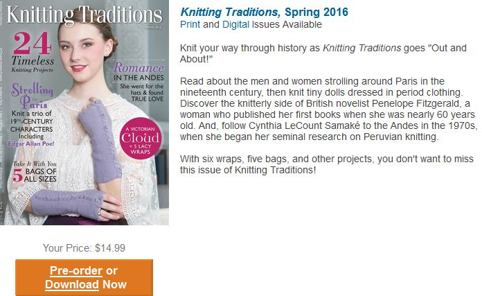Knitting Traditions Spring 2016