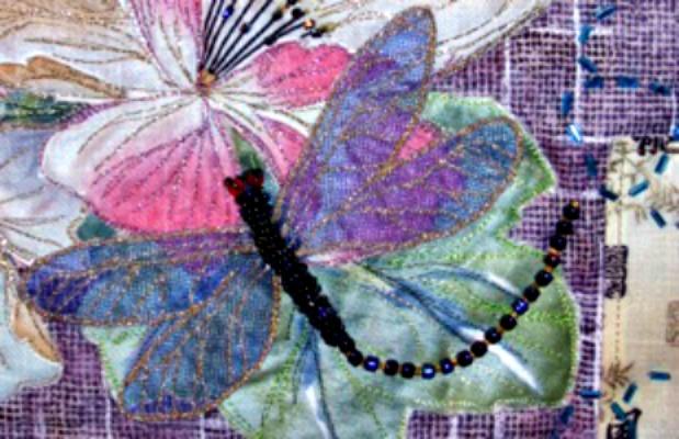 Beautiful example of Sashiko Bead Embroidery