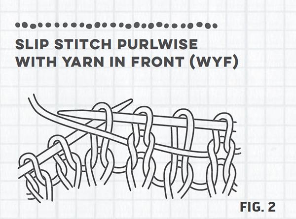 slipped stitch