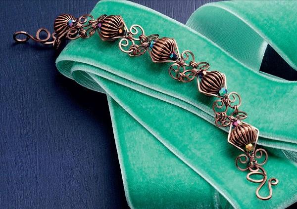 wire jewelry bracelet by Jodi Bombardier