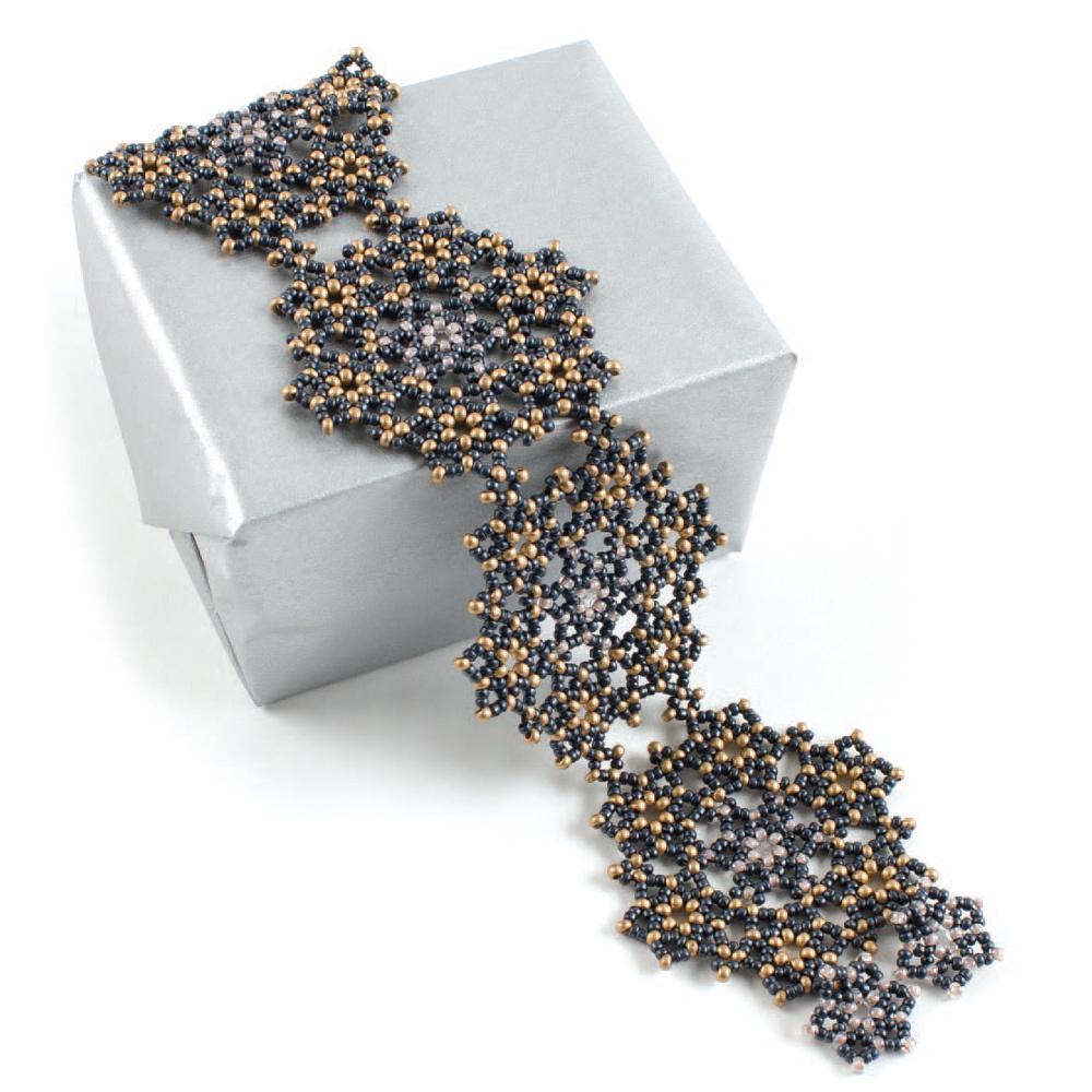Winter Solstice Bracelet by Marcie Abney seed bead patterns