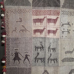 Handwoven textile from Acha Alta, Peru