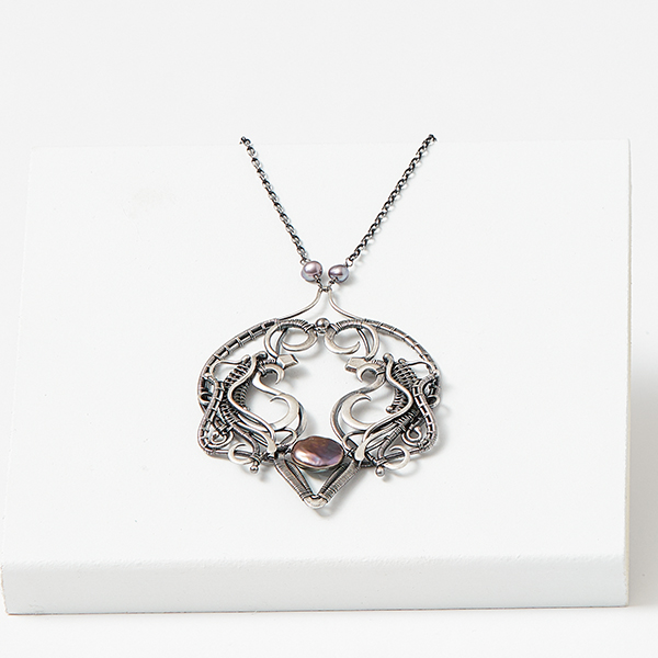 wire jewelry: Ada necklace from Woven in Wire by Sarah Thompson