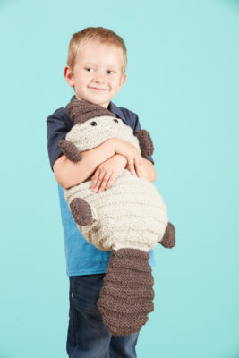Patrick the Platypus knitting pattern from Love of Knitting Toys by Grace Akhrem