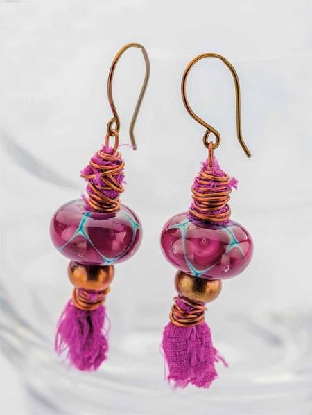 jewelry-making projects: Aladdin's Lamp Earrings by Kristi Bowman-Gruel