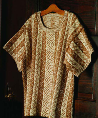 The Mimbres Tee is a spinning cotton sweater pattern that is free in our All About Spinning Cotton eBook.