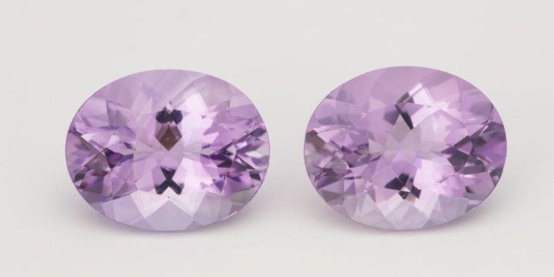 pair of Brazilian amethyst gemstones
