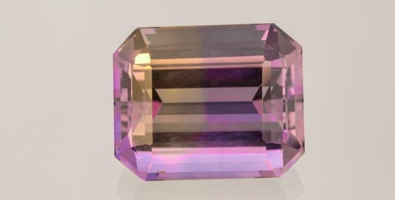 ametrine gemstones, combination of amethyst and citrine quartz varieties