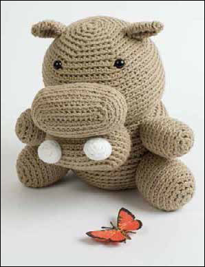 Hugo the Not So Hungry Hippo by Stacey Trock can be found in the free amigurumi crochet patterns ebook.