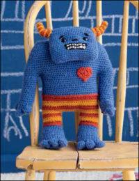 Little Joe by Brenda K. B. Anderson is a little crochet, amigurumi monster found in the 11 Free Crochet Amigurumi Patterns eBook.