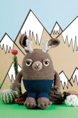 Jackson the Jackalope crochet pattern from Love of Knitting Toys by Brenda K. B. Anderson