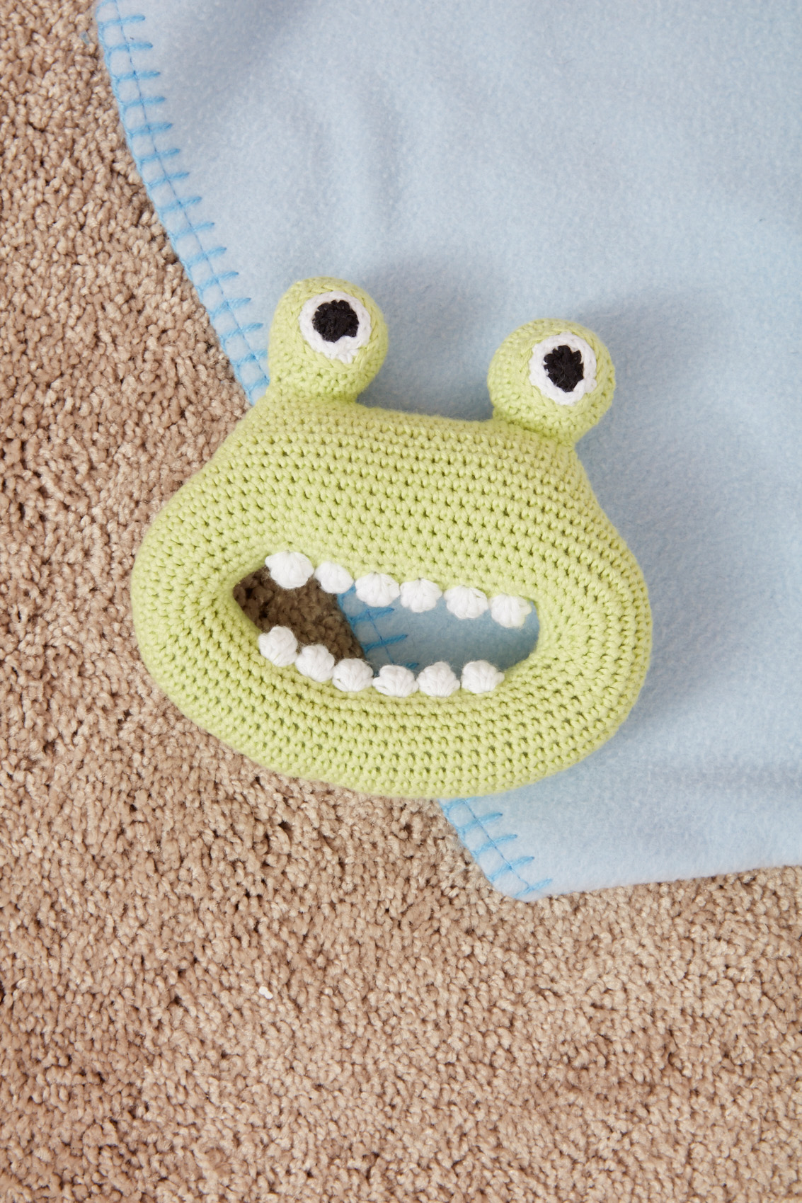 Silly Monster Rattle to crochet