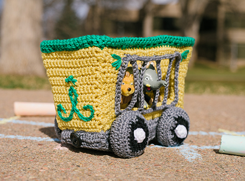 Back of Animal Train Car Crochet Amigurumi