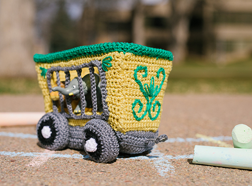 Front of Animal Train Car Crochet Amigurumi