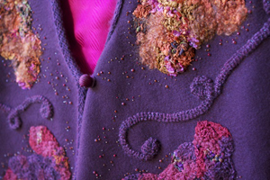 Purple cloth with embellishments