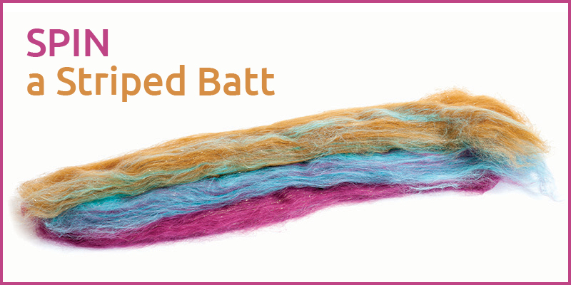 Spin a Striped Batt for a Gradient Yarn