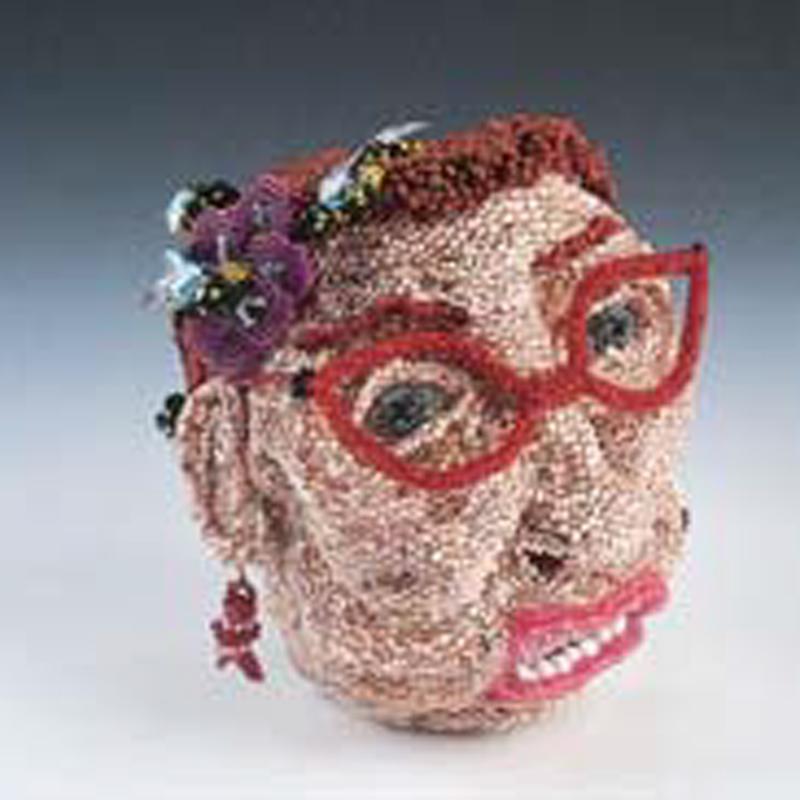 bead woven sculpture