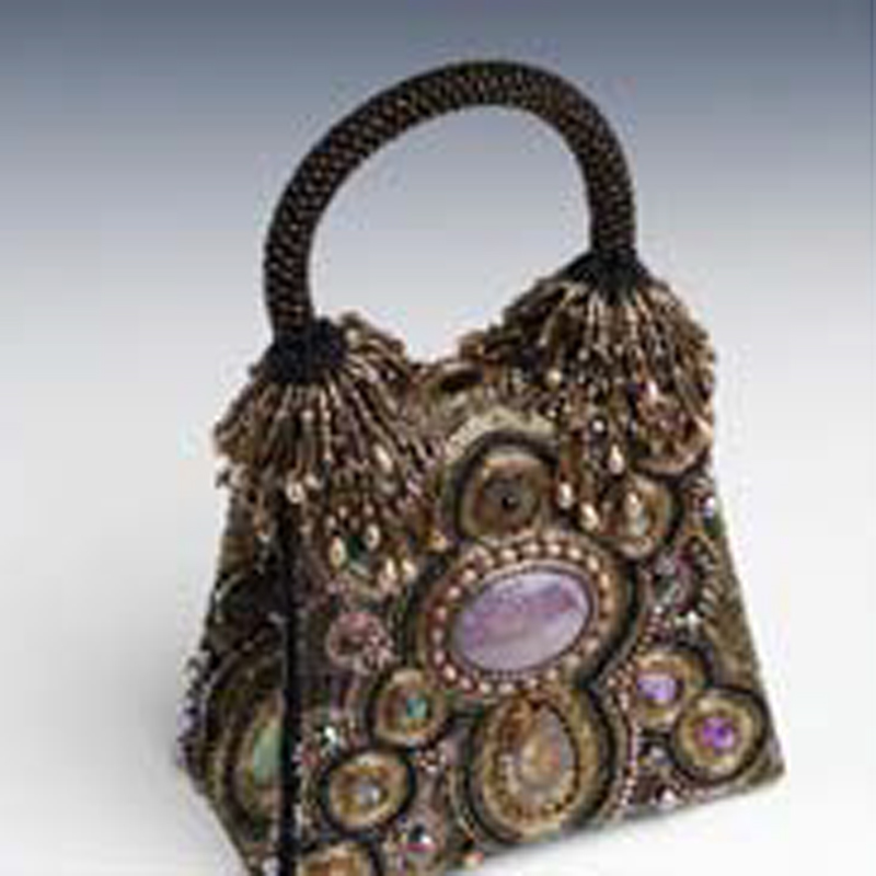 Sherry Serafini bead embroidered purse