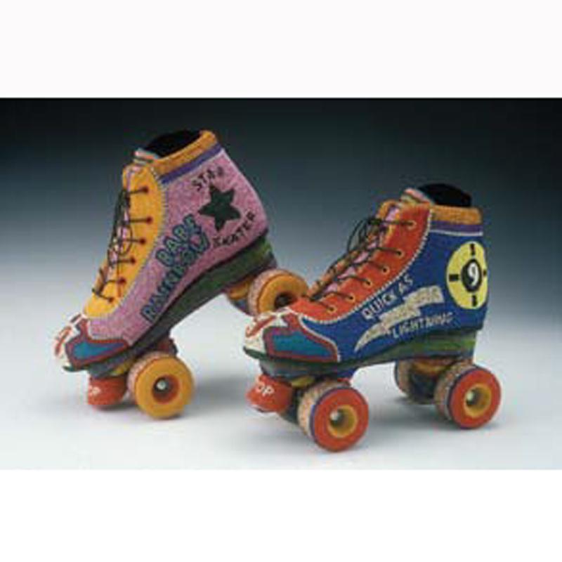 beaded roller skates