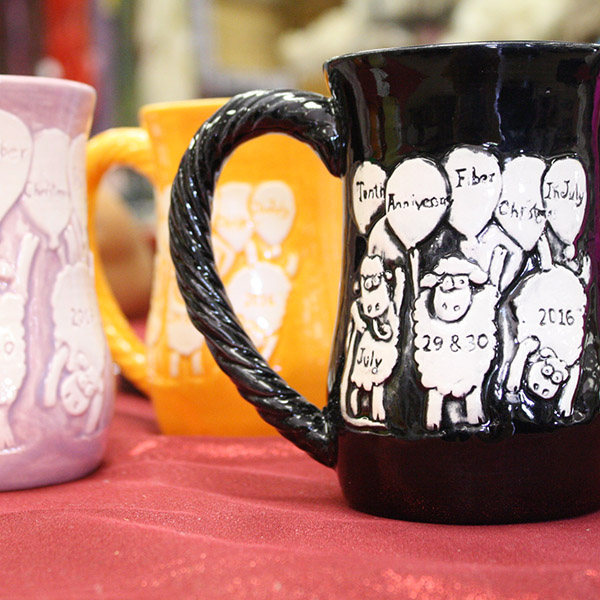Don't forget to grab an anniversary mug by Tracey Creations before they're gone! Photo by Kate Lowder