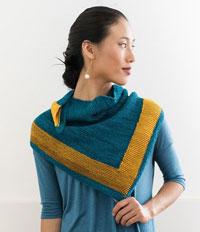 Beacon knit shawl