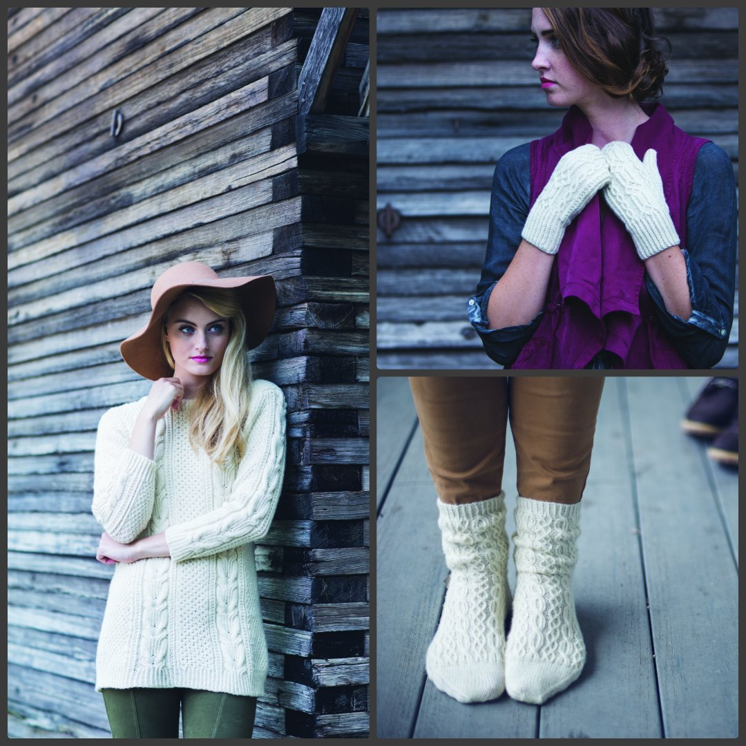 The 2016 Winter issue of Interweave Knits is filled with both Aran and Gansey inspired patterns! Images © F+W Media, Inc. by Harper Point Photography.