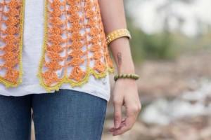 Arrowhead Cardigan: Lace crochet sweater