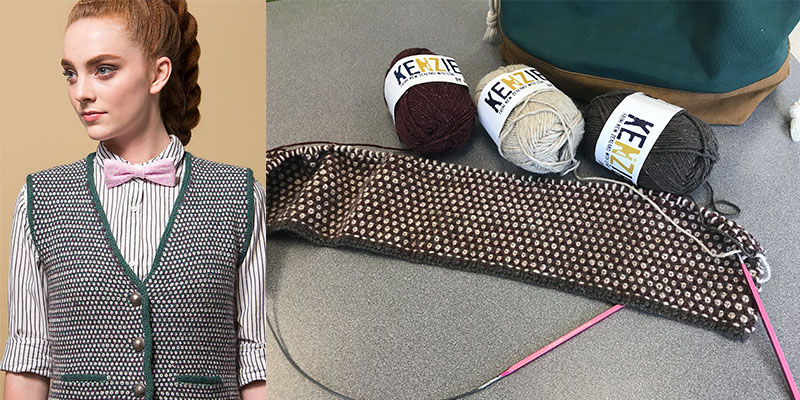 WIP: Artisan's Vest by Lisa Jacobs