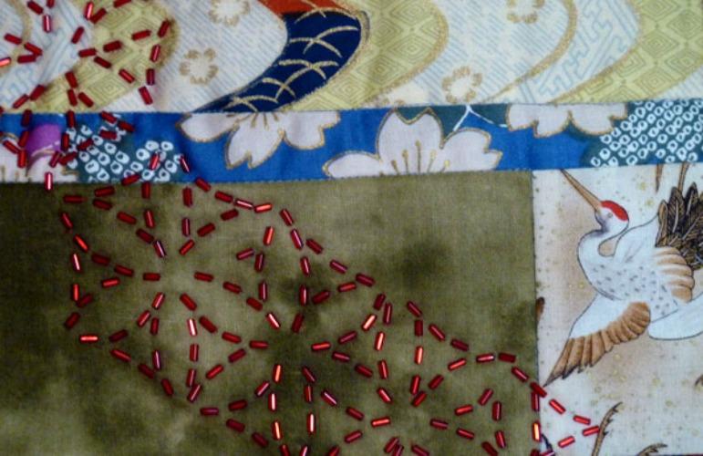 Sashiko Bead Embroidery workshop project