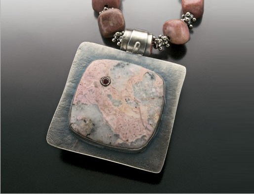 Astorite, Silver and Copper pendant by Lexi Erickson