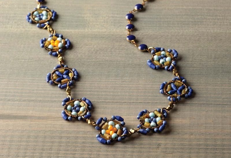 exotic jewelry designs: Azulejo Tile Necklace by Anne Potter