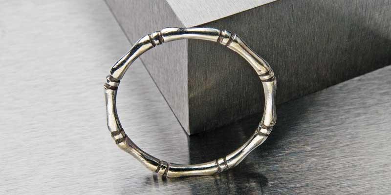 Ring Making Beyond Metalsmithing Basics: Turn Plain Band Rings into Bamboo Stack Rings