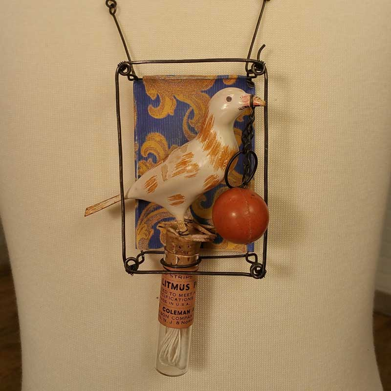 Brenda encases found objects in a Joseph Cornell inspired piece that shows off his iconic style - as seen on Beads, Baubles & Jewels