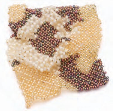 This picture of the Potato Chip Netting jewelry project can be found in our free Guide to Making Jewelry eBook.