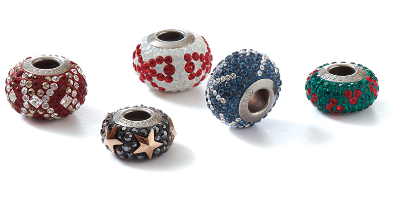 Swarovski Crystal Holiday BeCharmed Beads