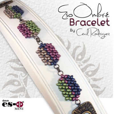 Shaped Beads: INFinity MInis and Es-o Minis. Eso Ombre bracelet by Cecil Rodriguez