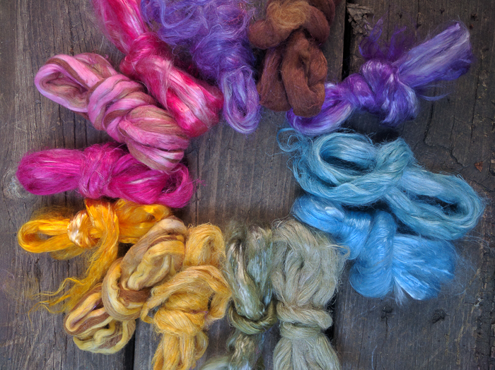 Bricolage Studios now offers Plant Packs. Each pack includes several different fiber bases dyed in gorgeous palette. Yum! Photo: Emily Wohlscheid.