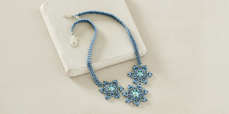 Winter Flower Necklace by Laura Graham