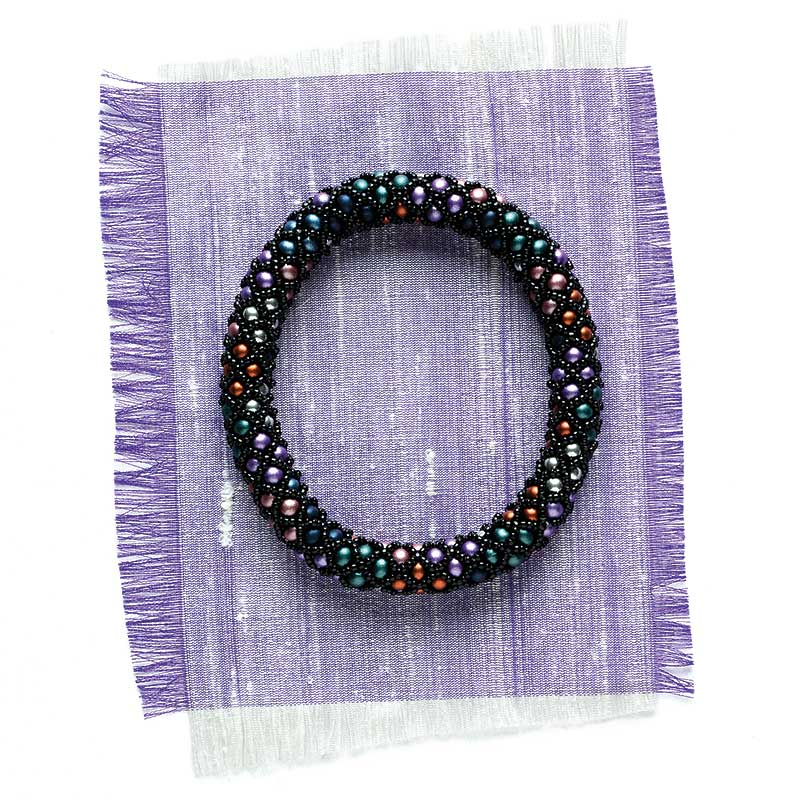 Expert Advice on Beading for Beginners. Argyle Bangle by Jenny Argyle (Q+E 2015)