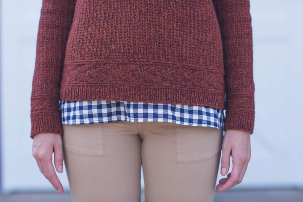 Meghan Babin Coldfield Pullover knit sweater pattern