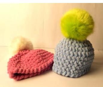 Knit Daily Free Patterns : Baby Hat with Pompom, As Featured on Knitting Daily TV with Vickie Howell, Ep...