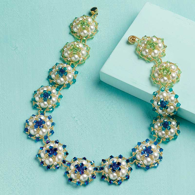 7 Beaded Jewelry Designs Inspired by Pantone's Color of the Year. Bahamian Waters Necklace