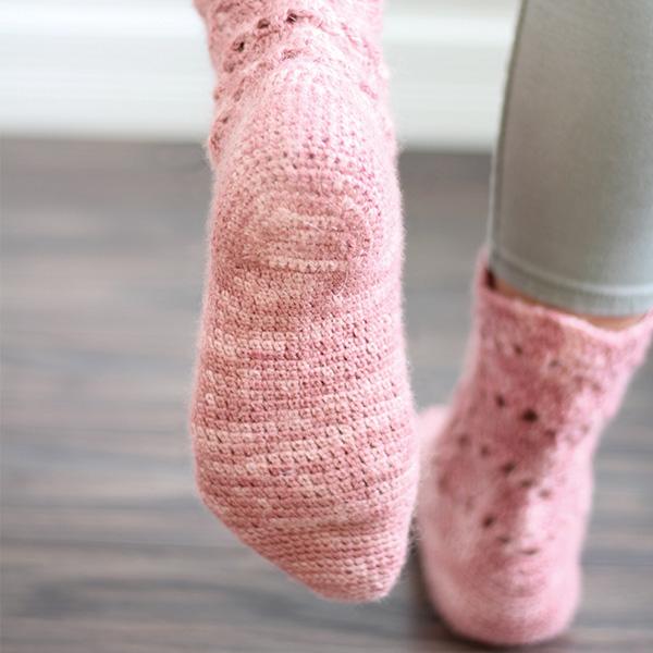 crochet sock heels