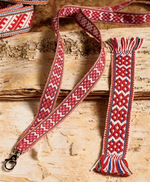 Learn how to make a sami band using a double-slotted heddle with this easy band weaving technique!