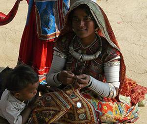 Banni Woman Stitching