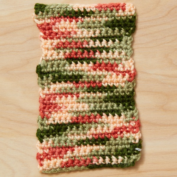 crochet color pooling