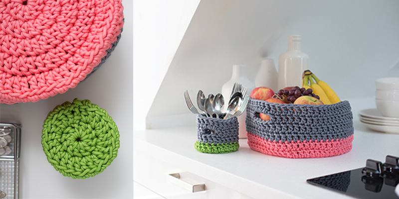 Basket Cases - Crochet Basket Pattern with Finished Baskets